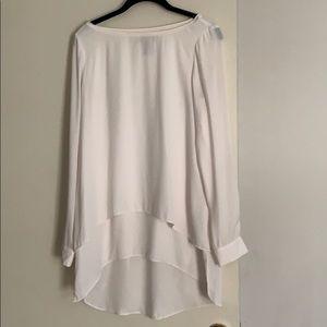 White House Black Market cream blouse size 6
